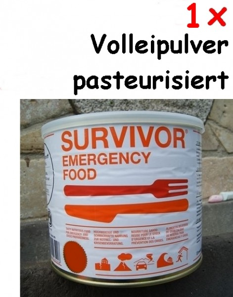 1 x SURVIVOR® Emergency Food Volleipulver pasteurisiert