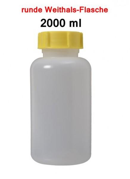 BasicNature Weithalsflasche rund 2000 ml