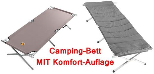 GRAND CANYON Camping Bed MIT Auflage