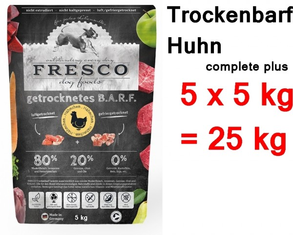 FRESCO Trockenbarf Huhn complete plus 25 kg