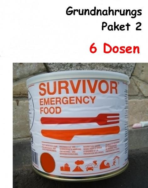 SURVIVOR Emergency Food Grundnahrungs-Paket 2