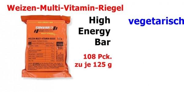 CONVAR-7 High Energy Bar - Multi Vitamin 108 x 125 g = 1 Karton