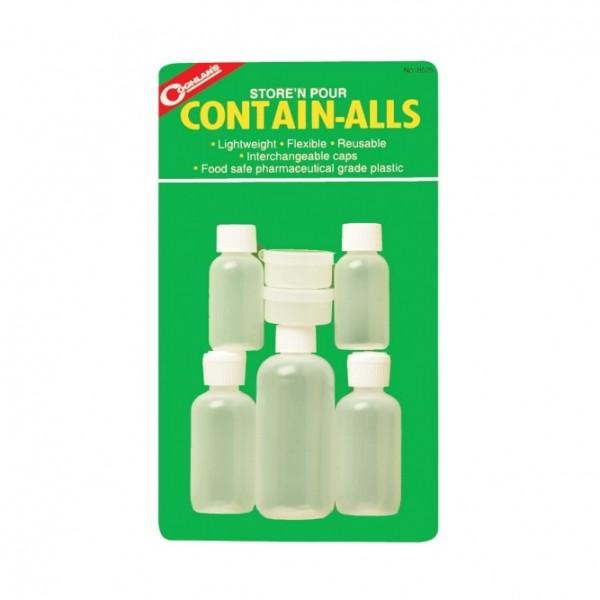 COGHLANS Kunststoff-Minicontainer-Sortiment - 5 Flaschen 2 Dosen