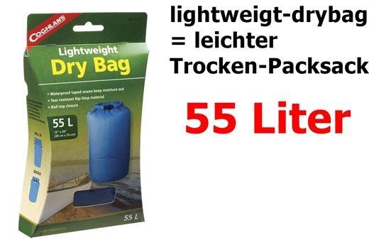 COGHLANS Lightweight Dry Bag 55 Liter