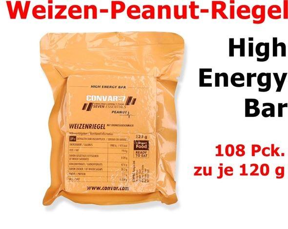 CONVAR-7 High Energy Bar - Peanut 108 x 120 g