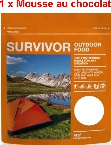 1 x Survivor® Outdoor Food Mousse au Chocolat