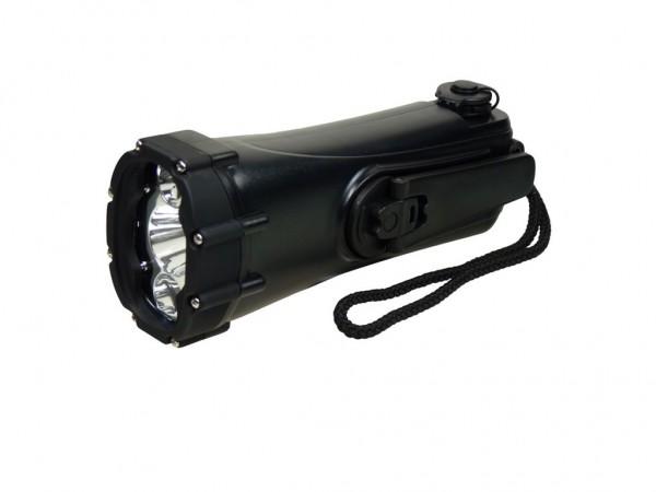 POWERplus SHARK wasserdichte Kurbeltaschenlampe