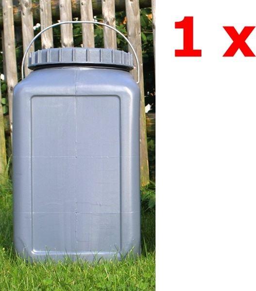 1 x BasicNature Eckige Weithalstonne 30 Liter