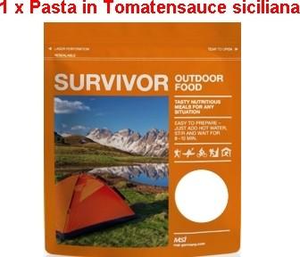 1 x Survivor® Outdoor Food Pasta in Tomatensauce Siciliane