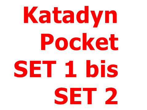 KATADYN Pocket SET 1 bis SET 2