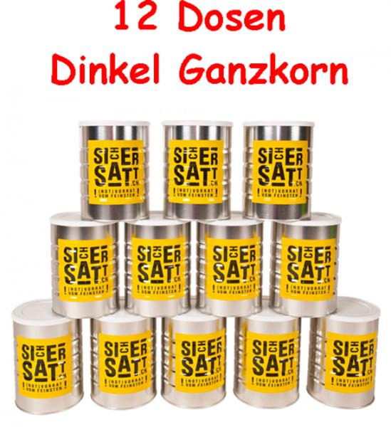 SicherSatt Dinkel Ganzkorn 12 Dosen = 1 Karton