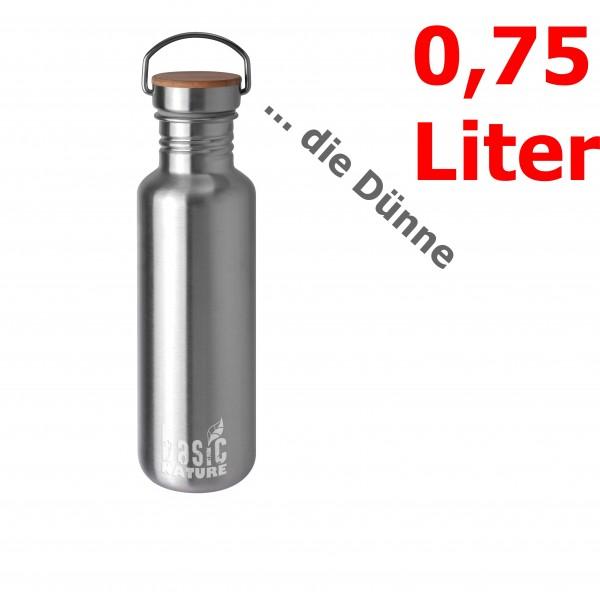 BasicNature Trinkflasche Active 0,75 Liter matt