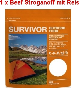 1 x Survivor® Outdoor Food Beef Stroganoff