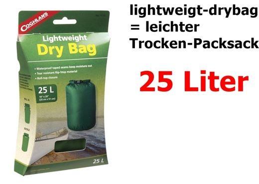 COGHLANS Lightweight Packsack = Dry Bag 25 Liter