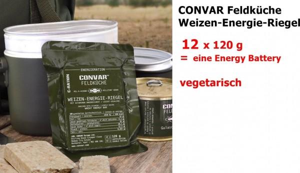 CONVAR Feldküche Weizen-Energie-Riegel salty ... military grade 12 x 120 g = eine energy battery