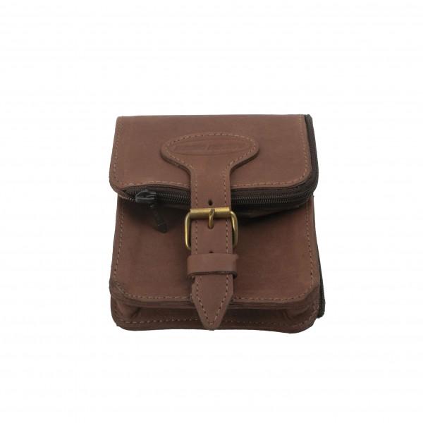 BasicNature Leder-Gürteltasche Belt Safe (mokka - braun)