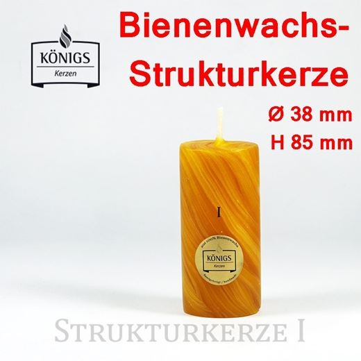 KOENIGS Bienenwachs-Strukturkerze 1