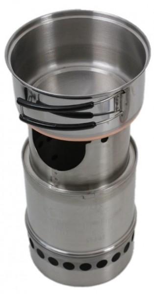 Firepot Outdoor Minikocher (mit Topfdeckel) MAXI
