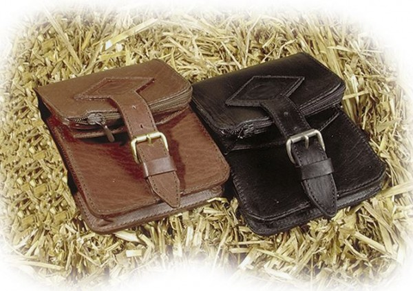 BASIC NATURE Leder-Gürteltasche Belt Safe (mokka - braun)