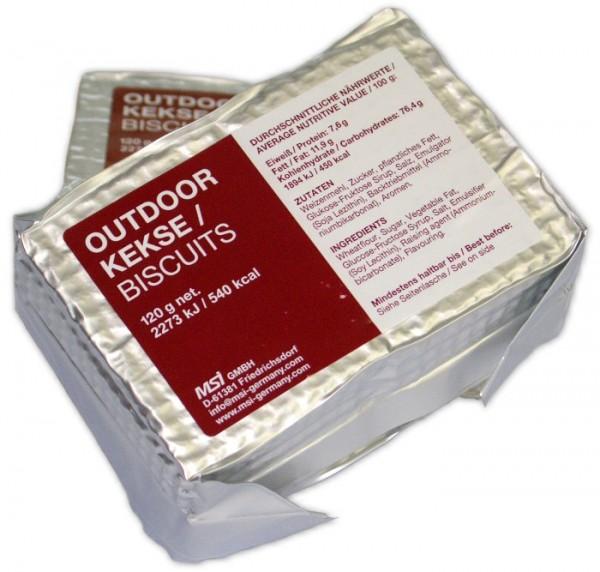 Survivor® Outdoor Biscuits bzw. Outdoor Kekse 125 g (Karton mit 96 x 125 g)