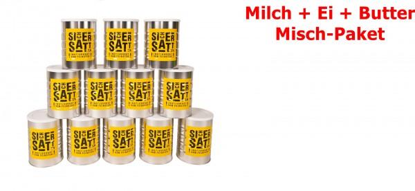 SicherSatt Milch + Ei + Butter ... 12 Dosen = 1 Karton
