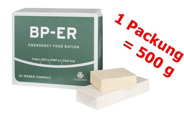 BP-ER Emergency Food Ration 1 x 500 g = eine Packung