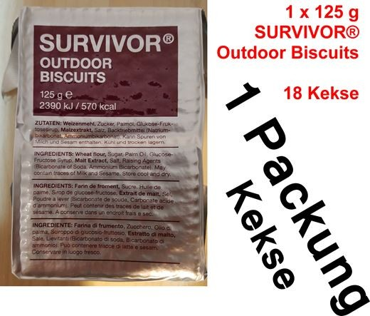 Survivor® Outdoor Biscuits bzw. Outdoor Kekse 125g