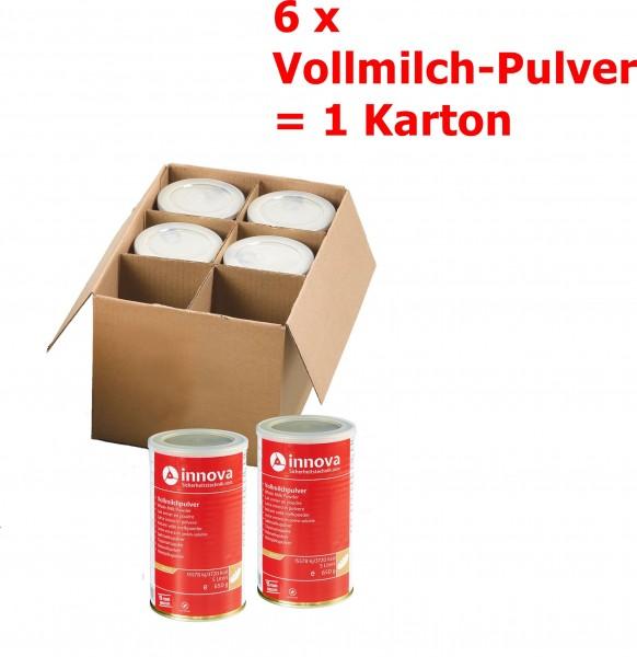 innova Vollmilch-Pulver 6 Dosen = 1 Karton