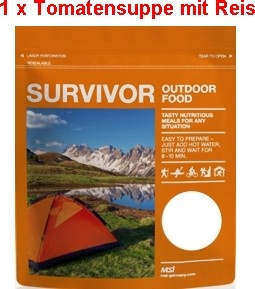 1 x Survivor® Outdoor Food Tomatensuppe mit Reis