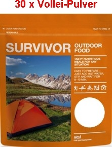30 x Survivor® Outdoor Food Voll-Ei-Pulver