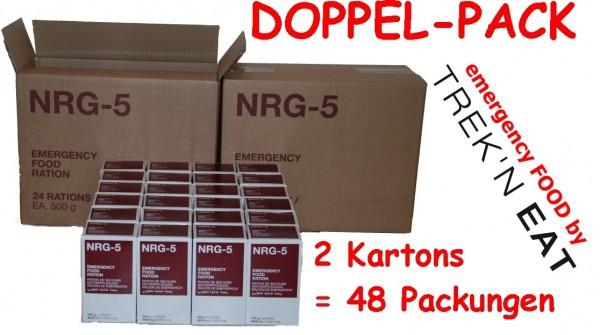 NRG-5 Notverpflegung Notration Notnahrung 48 x 500 g = 2 Kartons
