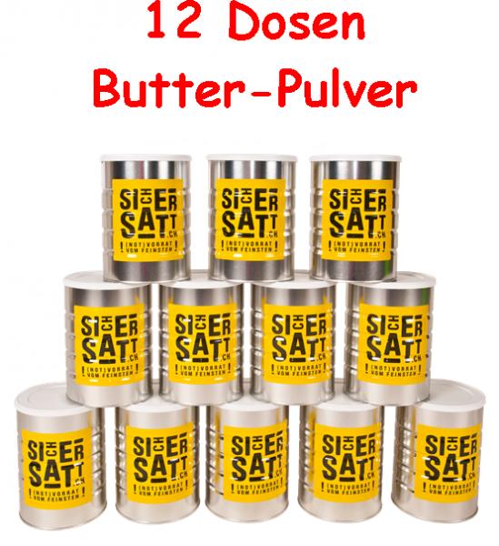 SicherSatt Butterpulver 12 Dosen = 1 Karton
