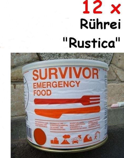 "12 x SURVIVOR® Emergency Food Rührei ""Rustica"""