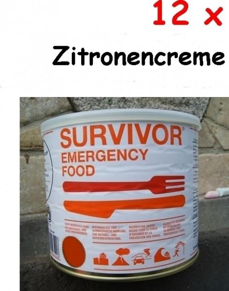 12 x SURVIVOR® Emergency Food Zitronencreme