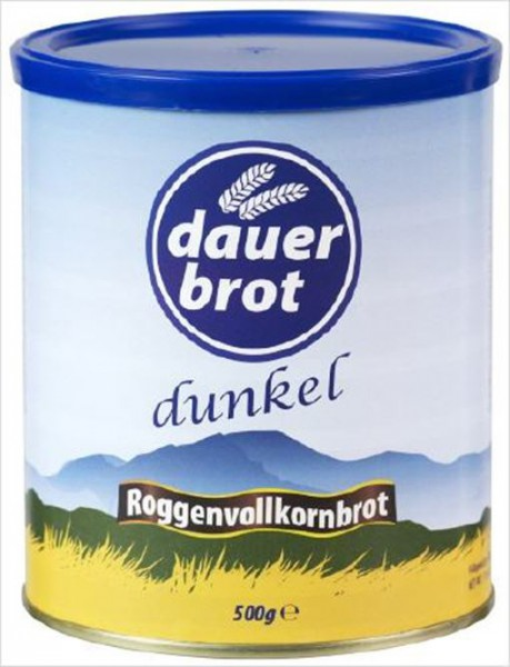 """dauerbrot """"dauerland"""" Roggen-Vollkornbrot dunkel - 3 Kartons (36 Dosen)"""