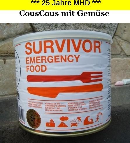 1 x SURVIVOR® Emergency Food COUSCOUS mit Gemüse