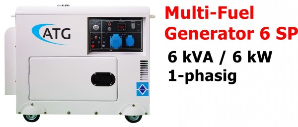 ATG Multifuel 6SP Stromgenerator ... ein-phasig
