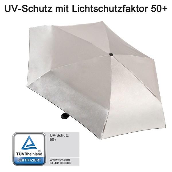 EuroSchirm Dainty UV silver metallic