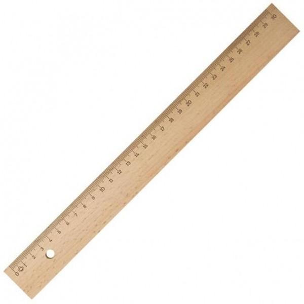 BARTL Holz-Lineal 30 cm