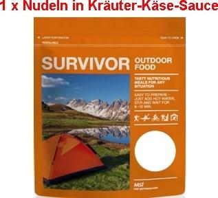 1 x Survivor® Outdoor Food Nudeln in Käse-Kräutersauce