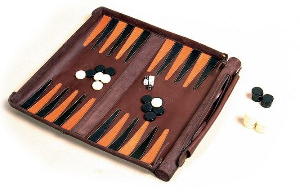 "Leathersafe® Packgammon (Backgammon) ""Roll and Play"""