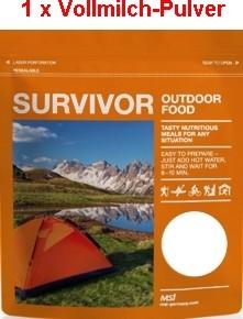 1 x Survivor® Outdoor Food Voll-Milch-Pulver instant