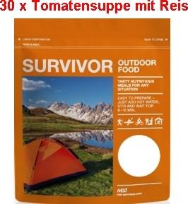 30 x Survivor® Outdoor Food Tomatensuppe mit Reis-Copy