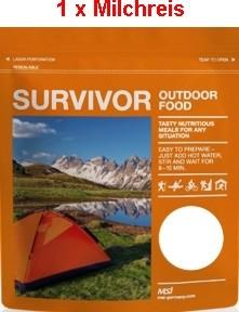 1 x Survivor® Outdoor Food Milchreis mit Sultaninen