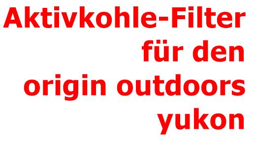 origin OUTDOORS Akktivkohle-Ersatzfilter für Wasserfilter Yukon