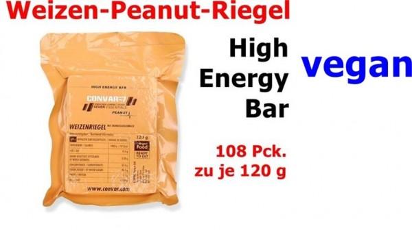 CONVAR-7 High Energy Bar - Peanut 108 x 120 g = 1 Karton