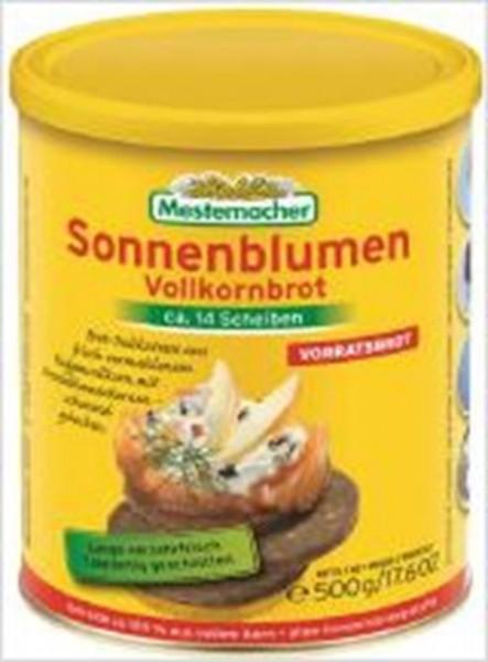 Mestemacher Vorratsbrot - Sonnenblumen Vollkornbrot - 3 Kartons (36 Dosen)