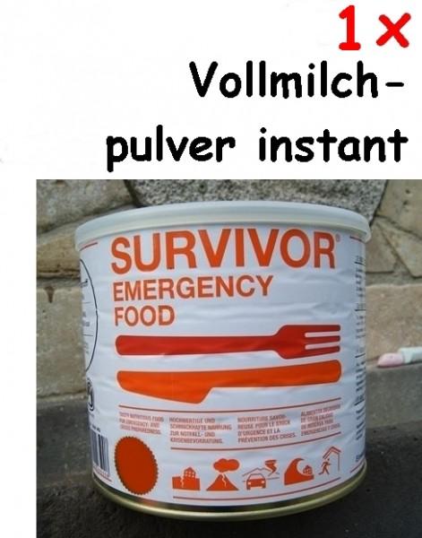 1 x SURVIVOR® Emergency Food Vollmilchpulver instant