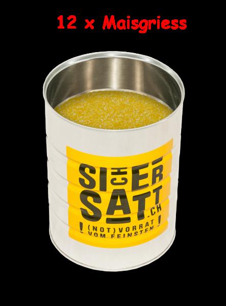 SicherSatt 2-Minuten Maisgriess (12 Dosen mit je 1.200 g)