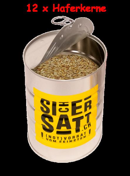 SicherSatt Haferkerne (12 Dosen mit je 1.500 g)
